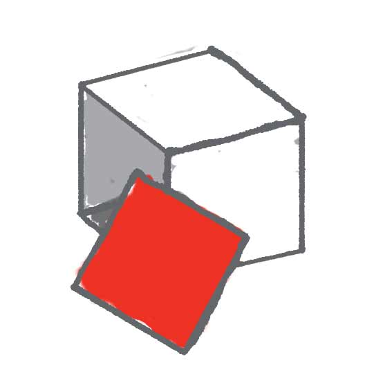 Red Continued cube side 5 of 6